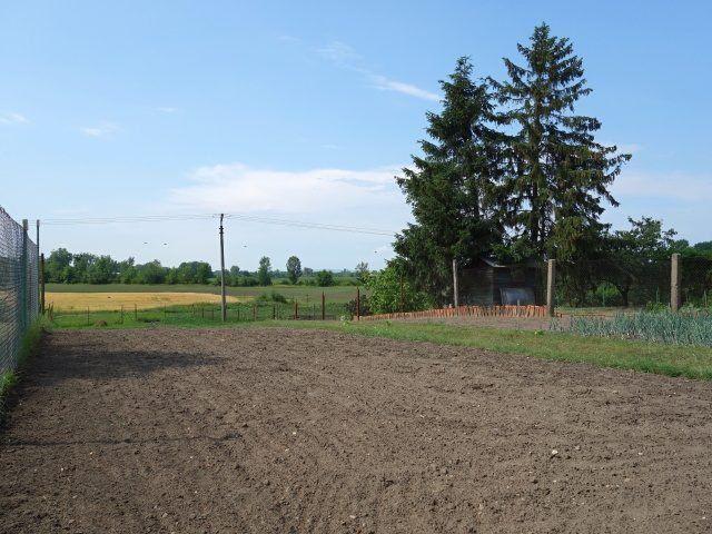 Zadní levá strana pozemku
