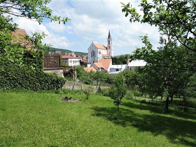 Výhled na kostel sv. Cyrila a Metoděje