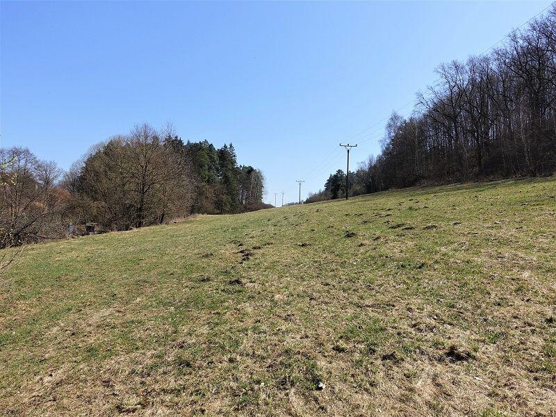 Pohled na zadní část pozemku